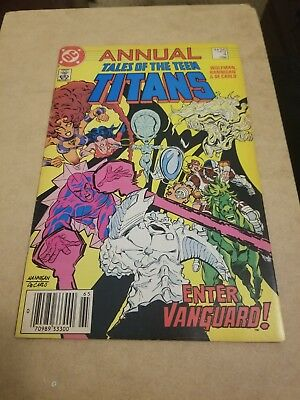 tales of the Teen Titans #4 annual (1986) VF NICE GRADE 🔥ENTER VANGUARD APP 🔥