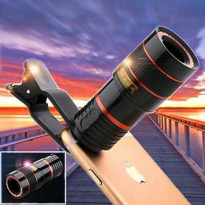 Clip-on 8x Optical Zoom HD Telescope Camera Lens For Universal Mobile Phone WQ