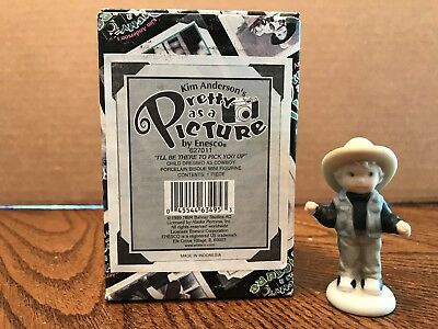 """Enesco Pretty As A Picture """"I'll Be There To Pick You Up"""" Child Cowboy  627011"""