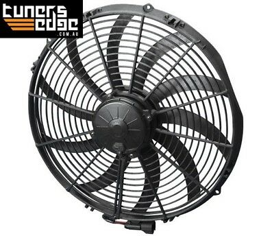 """Spal 16"""" Extreme Electric Thermo Fan 3000 cfm - Puller Type With Curved Blades"""