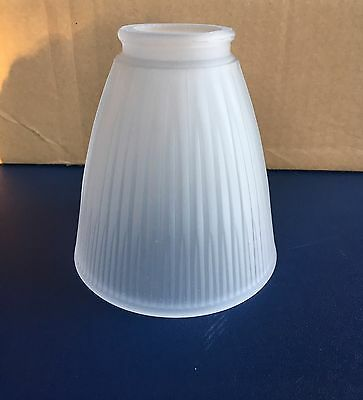 Art Deco Vintage Frosted Opaque Glass Light Fixture Lamp Shade