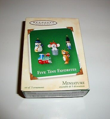 New Hallmark 2002 Five Tiny Favorites Set Of 5 Miniature Keepsake Ornament