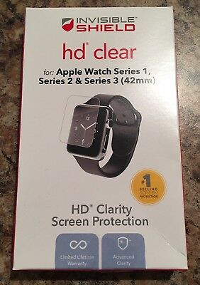 New Apple iWatch Clear Screen Protector Invisible Shield HD 42MM series 1,2, & 3