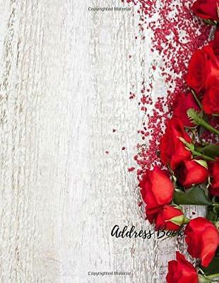 Address Book: Roses Large Print, Font, 8.5 by 11 For Contacts, Addresses, Phone