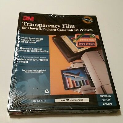 3M CG3460 InkJet Transparency Film for Hewlett-Packard color Ink jet printers