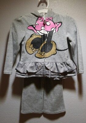 Disney Minnie Mouse Little Girls' Toddler 2-Piece Outfit Jogger set 2t gray