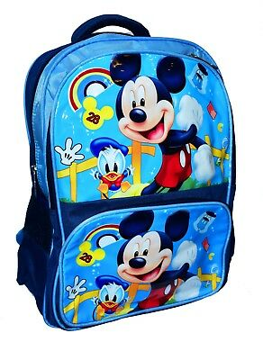 New Kids Mickey Mouse Backpack Boys School Bag Picnic Preschool Gift Holiday