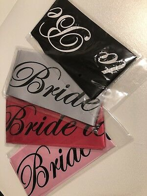 Bride To Be Satin Sash Bachelorette & Bridal Party Accessory