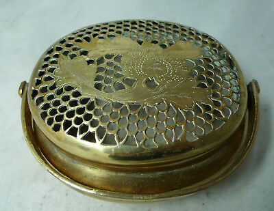 Antique Brass Chinese Hand Warmer A641317