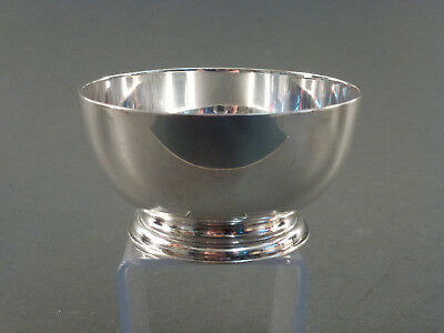 Heavy Gauge Small Plain Silver Sugar Bowl