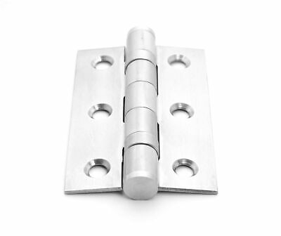 "Door Hinge Ball Bearing Hinges Chrome Plate | 3"" x 2"" 75mm x 50mm 
