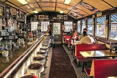 American Diner Canvas Picture Poster Print Wall Art Unframed #335