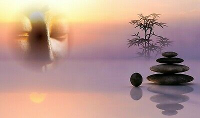 Buddha Spirituality Relaxation Canvas Picture Poster Print Unframed #365