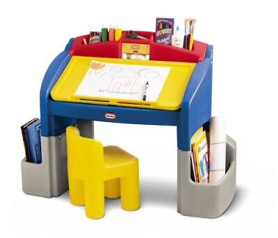 Little Tikes Art Desk Activity Table Lighted Child Size Working Good