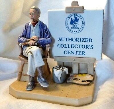 """Norman Rockwell Museum """"Authorized Collector's Center"""" ©1981 Figurine"""