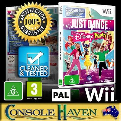 (Wii Game) Just Dance: Disney Party (G) (Music & Dance) PAL, Guaranteed, Cleaned