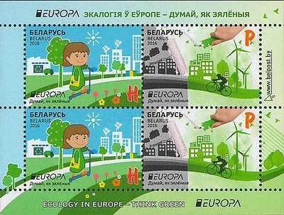 Belarus, 2016, Europa Europe s/s block Think green