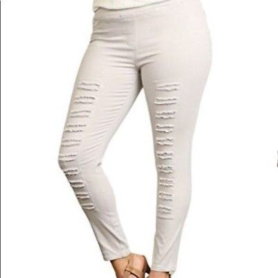 NWT Umgee Plus Size High Waist Distressed Jeggings
