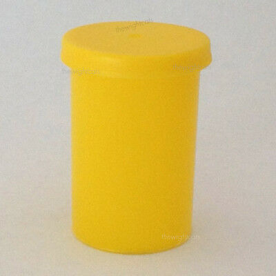 100x 35mm Film canister empty containers pots lids Yellow mini storage box