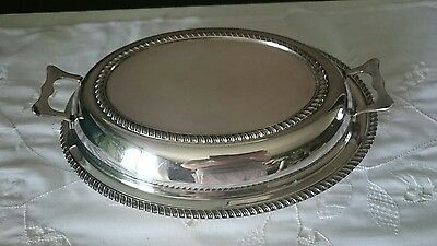 Anur Made In England Silver Plated Covered Enter Dish