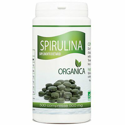 Spirulina Biologica 500mg - 500 compresse