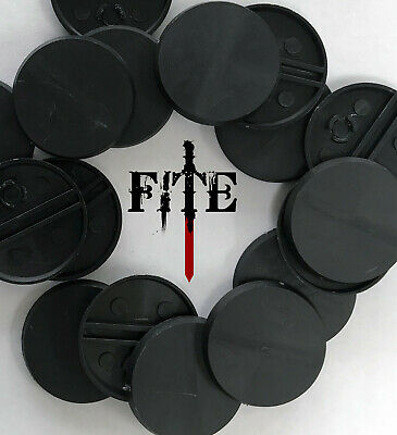 *BRAND NEW* 32mm round, plain, black plastic bases Infinity Warhammer wargaming