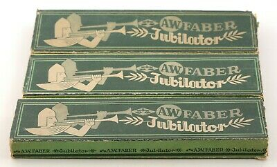 Vintage A.W. Faber Castell Jubilator Banderole pencil cardboard packing