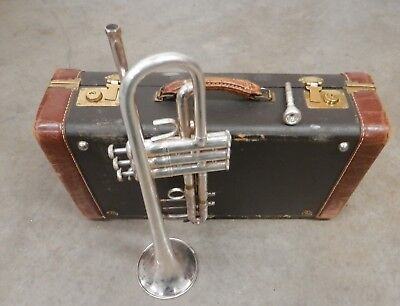 Early 1970's Bach Stradivarius Model 37 Silver Trumpet !Nice Sound! !NORESERVE!