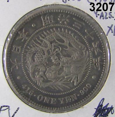 1903 Japan Large Size Silver Yen Extra Fine Scarce! #3207