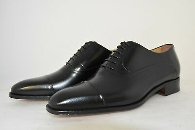 MAN-7eu-8us-OXFORD CAPTOE-FRANCESINA-BLACK CALF-VITELLO-LEATHER SOLE-CUOIO