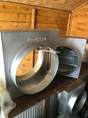 fire dampers-various sizes from 200mm to 315mm with welded cleats