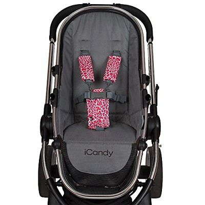 Outlook Universal Cotton Stroller Strap & Buckle Cover (Rose Lace)