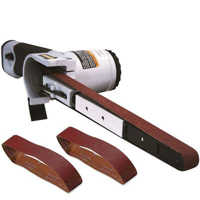"""Astro Pneumatic 3037 1/2"""" x 18"""" Air Belt Sander with 40/60/80-Grit Belts New"""