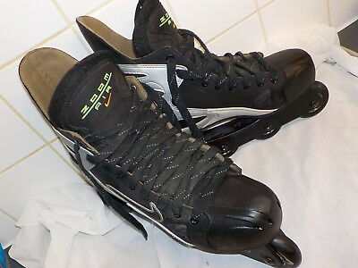 NIKE Zoom Air NSANE Inline Roller Blades Hockey Skates Men's UK 11 Black