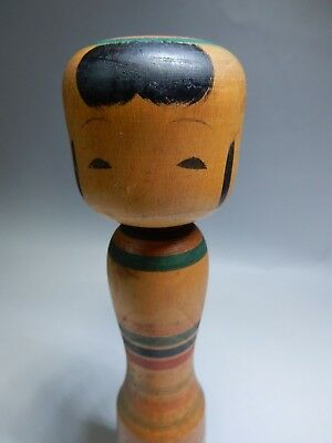 """Old Japanese Traditional kokeshi wooden Doll Artist Signed H21cm 8.2"""""""