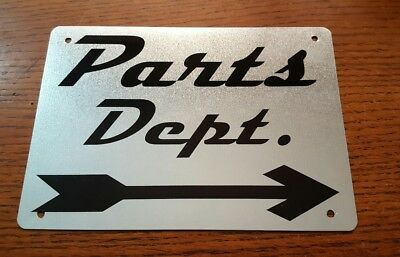PARTS DEPARTMENT Metal Sign Motorcycle Hot Rod Car Bike Shop Garage Ford Chevy