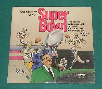 Vtg. Football Lp - History Of The Super Bowl - Packers - Jets - Colts - Steelers