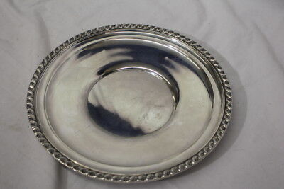 "Vintage GORHAM Sterling SIlver 10"" Sandwich Plate #1074 w/Floral Gadroon Edge"