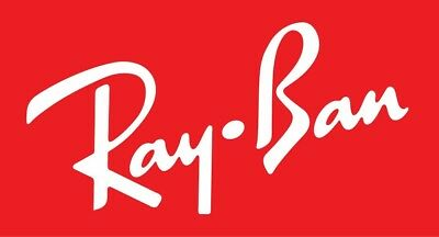 Ray Ban Sticker Red Decal 2 x 3 inch New