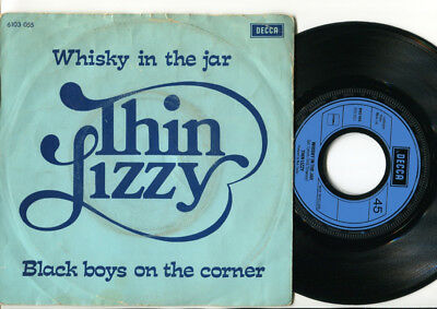 THIN LIZZY - Whisky In The Jar / Black Boys On The Corner 45 1972 DUTCH PS DECCA