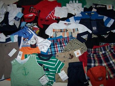 Nwt Boys 12/18M/2T 36 Piece Very Nice Quality Summer Lot