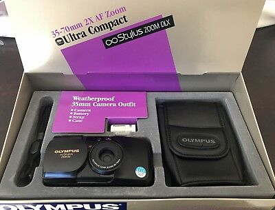 Olympus Stylus Zoom DLX AF 35-70MM Quartz  Date Point & Shoot Camera Outfit NOS