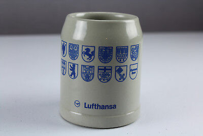 Lufthansa Airline 0.3L Beer Stein Mug Cup Stoneware German Coat of Arms