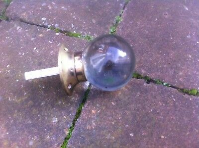 Period glass door knob