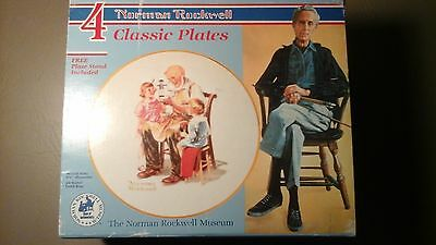 VTG 1984 Decorative Plates~ 4 Beloved Classics By Norman Rockwell, N.R. Museum