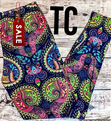 NWT PLUS Size Brilliant Paisley Leggings Buttery Soft Curvy 10-18 TC
