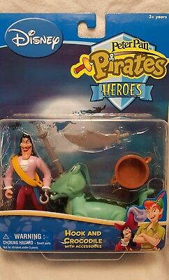 Peter Pan Pirates Heros Hook & Crocodile New In Box!!