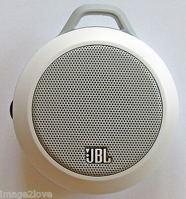 JBL Micro II 2 Wired Ultra-Portable Audio Mobile White Speaker Android iPhone