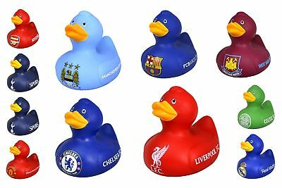 Official Football Clubs Vinyl Bath Time Duck