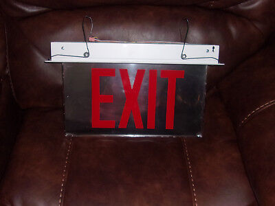 """Cooper Clear Exit Sign   Led   6""""  Red Nos"""